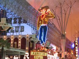 Las Vegas Fremont Street Map by Neon Cowboy On Fremont Street In Las Vegas A Neon Cowboy S U2026 Flickr