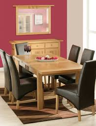 red fabric tablecloth small dining room round table wooden