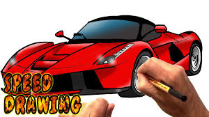 supercar drawing how to draw laferrari supercar speed drawing youtube