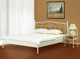 Schlafzimmer Bett 200x200 Metallbett Bett 200x200 Altweiß Doppelbett Liana Neu Sixbros Ebay