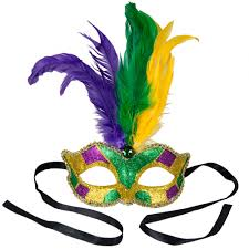 green mardi gras mask feather masks mardigrasoutlet