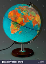 Map Showing Equator World Whole Globe Illuminated Map Plastic And Translucent