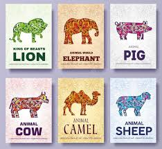 animals brochure cards jungle template of flyear