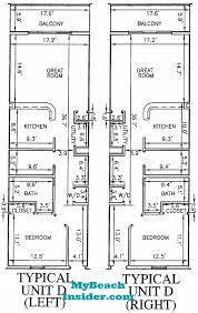 Unit Floor Plans Calypso Towers Condo Floor Plans Panama City Beach Florida