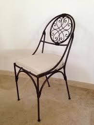 chaises en fer forg chaise fer forgé tôle escargot tarif 110 ttc hors finition et