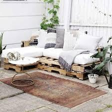 palette canapé bois de palette canapé extérieur bohème inspirations design