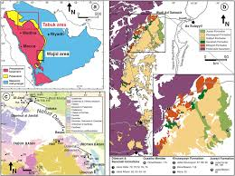 map of tabuk a simplified geologic map of the arabian peninsula showing the