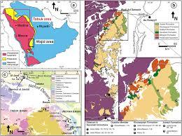 tabuk map a simplified geologic map of the arabian peninsula showing the