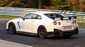 nissan christmas nissan spied testing hotter gt r nismo with fender vents