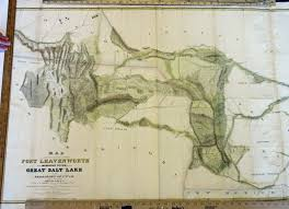 Map Of Nevada And Utah by Prints Old U0026 Rare Utah Page