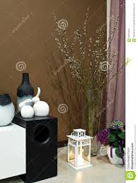 living room corner decorated stock photo image 68204624