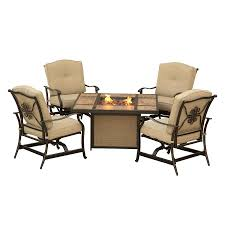 Aluminum Patio Furniture Set - shop hanover outdoor furniture traditions 5 piece aluminum patio