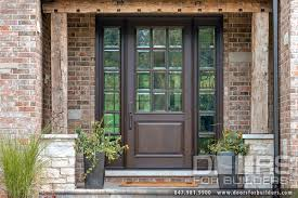 Clear Glass Entry Doors by Custom Solid Mahogany Wood Door With Two Sidelites Clear Beveled