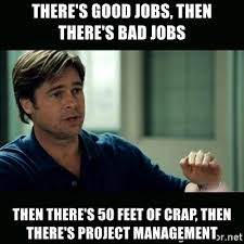 Project Management Meme - there s good jobs then there s bad jobs then there s 50 feet of