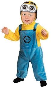 Halloween Costumes 1 2 Baby Girls Boys Toddler Despicable Minion Fancy Dress Costume