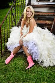 country weddings brides in boots gac