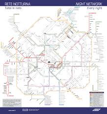 Milano Italy Map by Night Transport In Milan Underground Bus And Tram Lines Free