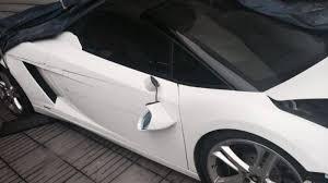 crashed lamborghini valet parker obliterates lamborghini gallardo spyder