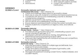 Personal Trainer Resume Sample by Resume Gymnastics Reentrycorps