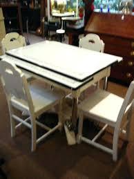 vintage enamel kitchen table enamal table surprising dining room ideas including best vintage