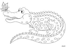 Coloriage à imprimer un crocodile  Doryfr coloriages