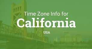 Us Timezone Map Time Zones In California United States