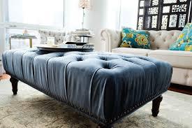 marcelle ottoman world market blue tufted ottoman houzz with regard to blue tufted ottoman