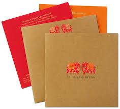 Wedding Invitation Cards Hindu Amazing Royal Elephant Theme Khaki Wedding Invitation Card Now