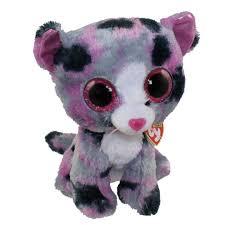 ty beanie boos lindi grey u0026 purple cat glitter eyes