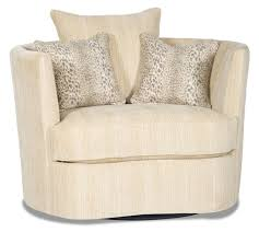 Fabric Swivel Chairs by Barrel Style Swivel Chair In A Chic Ivory Fabric