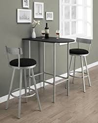 High Bar Table And Stools Amazon Com Winsome Hanley 3 Piece High Table With 2 High Back