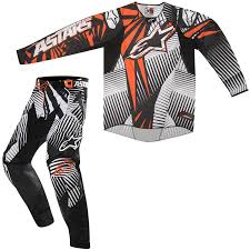 motocross pants and jersey combo alpinestars 2012 techstar motocross kit orange black alpinestars