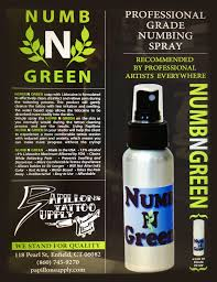 numb n green tattoo salution after care