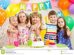 kids birthday party children celebrating birthday party stock image image of indoors