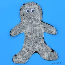 Halloween Mummy Crafts by Gauze Mummy Craft The Resourceful Mama