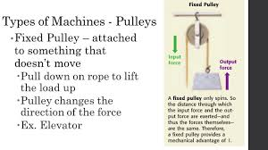 Simple Machines Pulley Worksheet Do Now Explain The Term Work Objective Students Will Be Able To