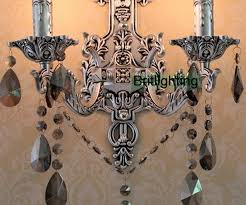 Vintage Crystal Sconces Antique Silver Wall Sconces Vintage Crystal Wall Lights Led Wall