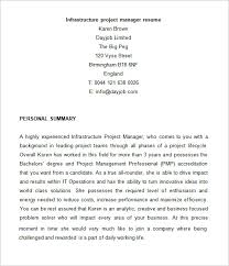 Project Manager Resume Templates Free by Project Manager Resume Template U2013 6 Free Samples Examples