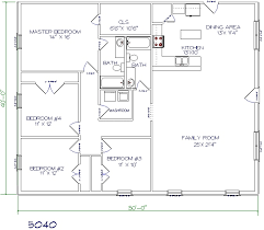 floor plans for a 4 bedroom house top 5 metal barndominium floor plans for your home hq