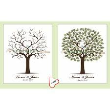 tree guest book customized wedding fingerprint tree guestbook alternative