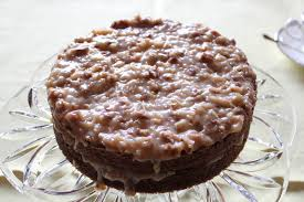 fleur du poirier german chocolate cake with pecan coconut