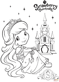strawberry shortcake mermaid coloring page free printable
