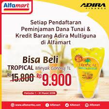 Minyak Goreng Tropical Di Alfamart alfamart bisa beli tropical minyak goreng 1l rp 9 900