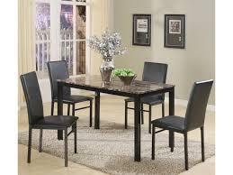 Side Table For Dining Room by Crown Mark Aiden 5 Piece Rectangular Table And Upholstered Parson
