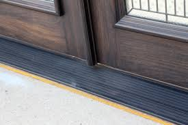 black front door threshold how to replace front door threshold