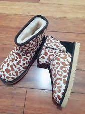 s ugg australia mini leather boots ugg australia leather print boots for ebay