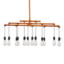 copper pipe light fixture lighting designs
