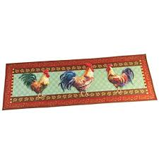 Rooster Runner Rug Farmhouse Country Rooster 57 X 19 1 2 Runner Rug