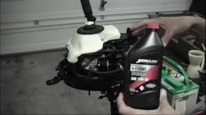 mercury 3 5hp 4 stroke outboard oil change youtube