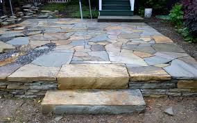 Building Stone Patio by Stone Steps And Patio By Hammerhead Stoneworks Asheville Home